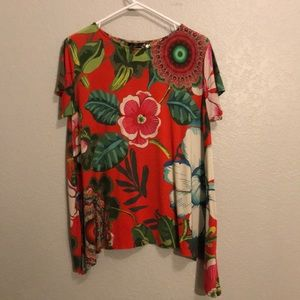 Desigual short sleeve t-Hirt with trapeze hm